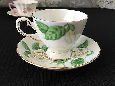 "Tuscan Bone China ""Hawaiian Flowers Gardenia"" Cup and Saucer"