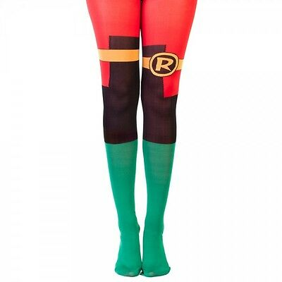 DC Comics Robin Suit Up 1 Pair Tights One Size Fits Most Batman Costume Cosplay