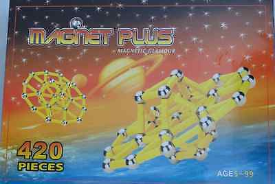 Huge 420 Piece Magnetic   Strong Building Set Executive Toy