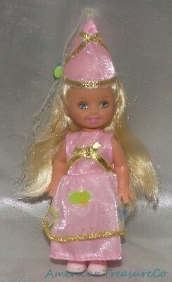 2001 Barbie RAPUNZEL KELLY As Candy Pink PETAL PRINCESS Doll w/Hat & Shoes