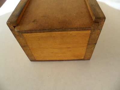 Antique vintage instrument wooden wood old lidded box with sliding lid science