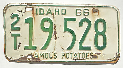 Idaho 1966 Old License Plate Garage Old Car Auto Tag Man Cave Rustic Potatoes