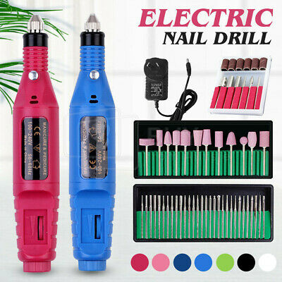 Nail Art Drill KIT Electric FILE Buffer Bits Acrylics Pedicure Hands Repair