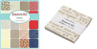 Patchwork/quilting Fabric Moda Charm Squares/packs - Hometown Girl