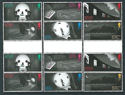Great Britain 2016 Agatha Christie Set Of 6 Gutter Pairs Unmounted Mint