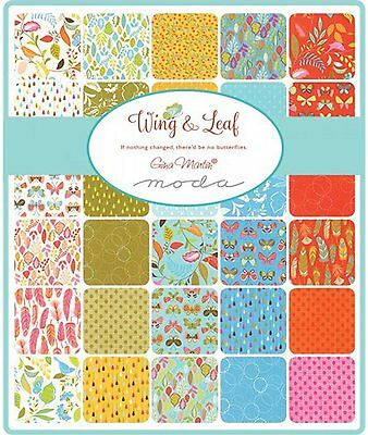 Patchwork/quilting Fabric Moda Charm Squares/packs - Wing And Leaf