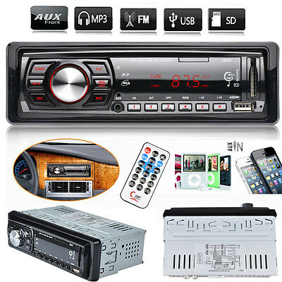 Car Stereo In-Dash 1 Din Audio FM Aux Input Receiver SD USB MP3 WMA Radio Player
