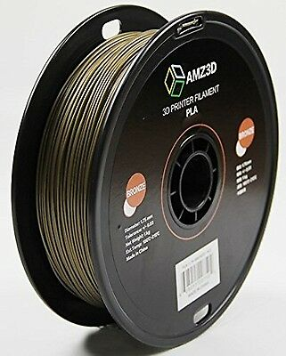 1.75mm Bronze PLA 3D Printer Filament-1kg Spool  PLA-1.75-Bronze-1kg CXX