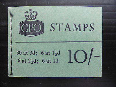 GB 10/- 1961 No Date X1 Wilding Booklet SALE PRICE