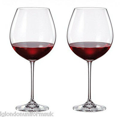2x Giant BOHEMIA CRYSTAL PREMIUM BARRICA RED Wine Glasses cup 770ml