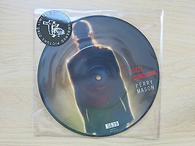"""OZZY OSBOURNE Perry Mason UK 7"""" numbered picture disc  MINT"""