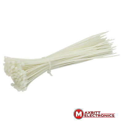 100x White cable ties Tie Wrap, Cable Tidy, Ties Zip Straps