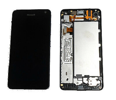 Microsoft Nokia Lumia 650 Complete Lcd Digitizer Touch Display & Frame Black