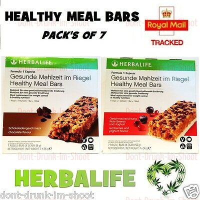 Herbalife - HEALTHY MEAL BARS CHOCOLATE/ RED BERRIES & YOGHURT New & Sealed
