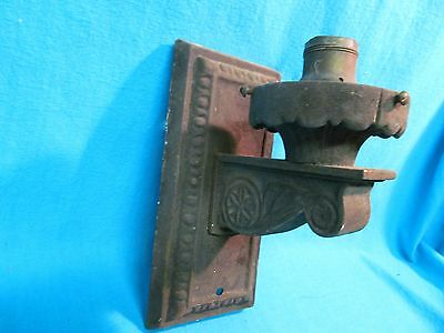 Antique Cast Iron Wall Light Fixture Marked Qc
