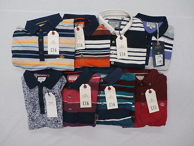 Huge Lot 8 Items Next Men's Short-Sleeve Polo Shirts MM1 Size Small NWT