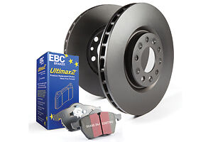 EBC Ultimax brake pads + discs front for LANCIA Beta Coupe 2.0 Supercharged  (BH