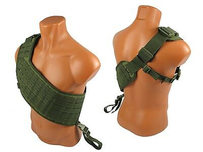 Russian Vest military army paintball olive airsoft chest rig molle bandolier ak