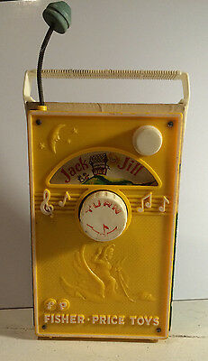 Vintage Fisher Price 1968 Toy Music Box TV Radio Made in USA jACK AND JILL