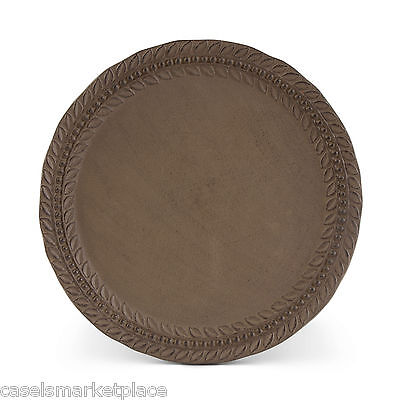 The GG Collection Grazia Set of 4 Brown Metal Plate Chargers Trays Platters