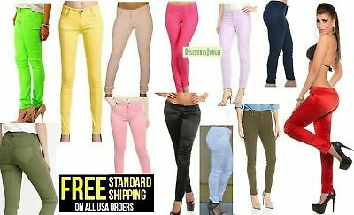 Masoi Color Series Junior's Women's Skinny Twill Jeans Stretch SOFT COTTON Pants