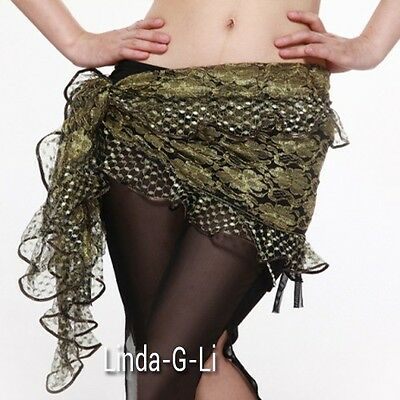 New Belly Dance Costume Hip Scarf Belt  Skirt Wrap 7 colors 9/4