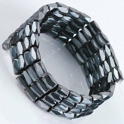 100pcs Black Magnetic Hematite Faceted Loose Beads