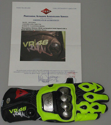 VALENTINO ROSSI Hand Signed Racing Glove  COA MF17751 *BUY AUTHENTIC ROSSI *