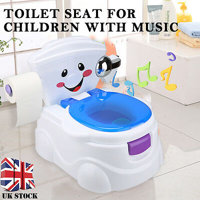 2 in 1 Child Toddler Music Potty Training Seat Baby Kid Fun Toilet Trainer Chair