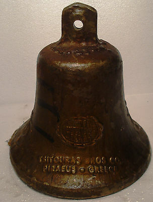 Vintage ANCHOR STYLE Marine Brass BELL - SN 25 - Great Sounding -Nautical/ Boat