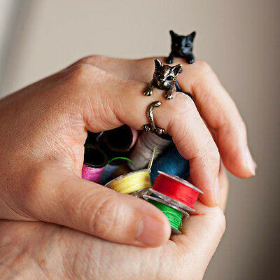 New Women Lovely Cat Ring Vintage Handmade Fashion Jewelry Cute Animal Rings