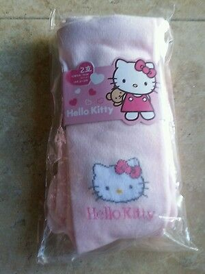 NWT Girls Pink Sanrio Hello Kitty Stocking Tights Footed Size 4-6, 7-9