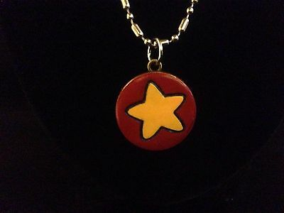 Steven Universe, Yellow Star on Red Necklace, Artisan Made