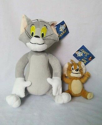 HOT A pair of plush toys Tom and Jerry Plush Doll Soft Cute Stuffed Cartoon Toy