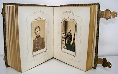 1860's CIVIL WAR CDV ALBUM - IMPORTANT UNION GENERALS & COMMANDERS - 18 IMAGES