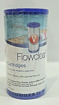 Bestway Flowclear V pool filter cartridge #58168 Twin pack