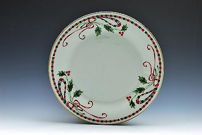 Home Essentials Holiday Christmas Holly Berries Tartan Ribbon Salad Plate (s)