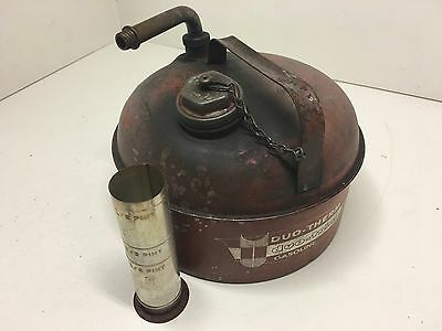 Old Vintage Eagle 2 1/2 Gallon Galvanized Gasoline Can Duo-Therm W/ Oil Measurer