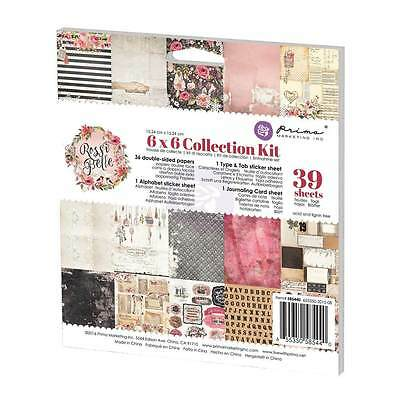 Prima 6x6 Collection Kit Rossibelle stickers journaling card