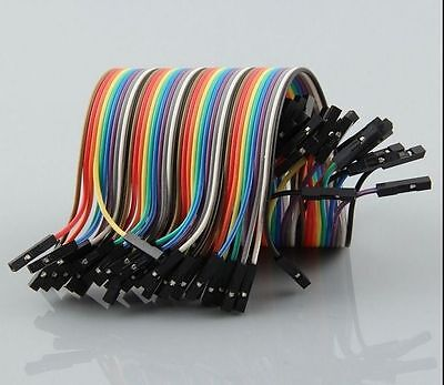 40pcs Female to Female Dupont Wire Jumper Cable for Breadboard 2.54MM 15CM