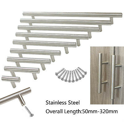 12mm Stainless Steel Kitchen Cabinet Door Handles T bar Chest  Drawer Pull Knobs