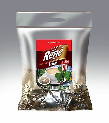 Philips Senseo 50 x Café Rene Crème IRISH Coffee Pads Bags Pods