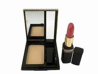 Elizabeth Arden Duo Gift Compact Powder (Light 2) + Exceptional Lipstick Fiesta