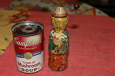 Antique Wood Toy Wind Up Noise Maker-Americana Folk Art Toy-Aged Patina-LQQK