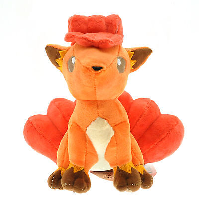 Anime Pokemon Vulpix Rokon Soft Plush Doll Stuffed Toy Cute Collectible Gift 6in