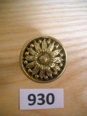 Antique Brass Knob Drawer Pull Deco Style