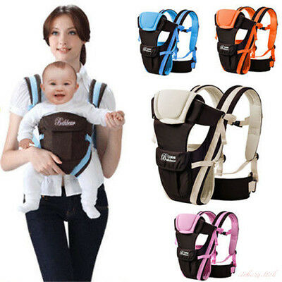 Breathable Ergonomic Infant Baby Adjustable Wrap Sling Newborn Backpack Carrier