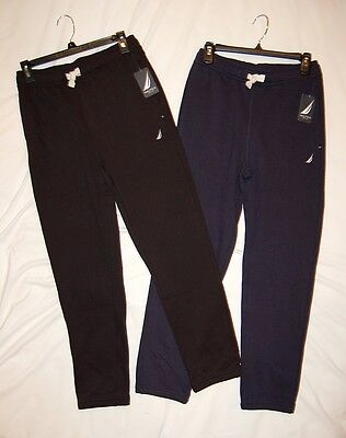 NEW NWT boys NAUTICA black or navy sweat pants sz 10-12 or 14-16