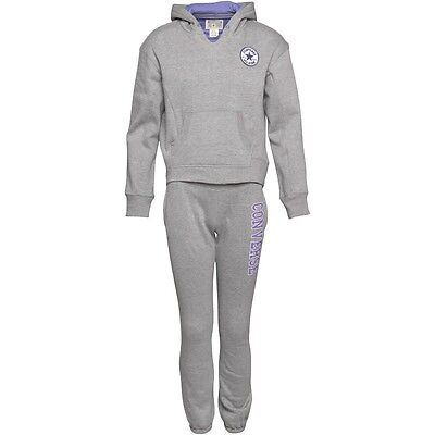 Converse Girls Tracksuit Vintage Grey Heather Size 13-15 Years