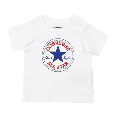 Converse Boys Chuck Patch T-shirt White/blue/red Age 1-2 Years